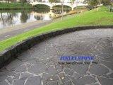 De geslepen Grijze Tegels van het Basalt, de Geslepen Grijze Betonmolen van het Basalt voor Vloer