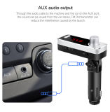Audio de coche Bluetooth manos libres Reproductor de MP3 transmisor de FM