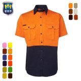 Overhemd van het Werk van de Koker van de Duurzaamheid van het Comfort van de veiligheid het Industriële Korte