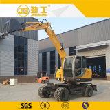 Pleno de la excavadora de rueda hidráulica Excavadora de ruedas 6T.