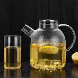 冷水、アイスティーおよびジュースのミルクのためのふたが付いているホウケイ酸塩ガラスの飲料のCarafeの水差し