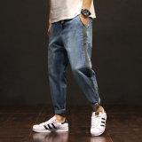 Personnalisé bleu Code Skinny lavé de grands hommes denim Jeans
