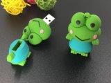 Memoria a dischi del USB 2.0 U del bastone 4GB 8GB 16GB 32GB di memoria di Pendrive dell'azionamento della penna dell'azionamento dell'istantaneo del USB della rana del silicone del fumetto