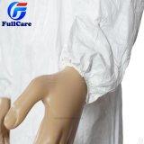Microporoso impermeable/Medical/Hospital/Plástico/Poly/PE/PP+PE/PP/General/SMS/Polipropileno Nonwoven Bata protectora desechable Ropa de trabajo Ropa de abrigo sobretodo