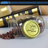 Glattes Gesichts-Glasspeicher-Flasche mit goldenen Kappen