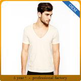 I Mens su ordinazione mettono la maglietta in cortocircuito gialla del manicotto
