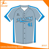 Base-ball Jersey de polyester de maille de la sublimation 100% de vêtements de sport de mode de Healong