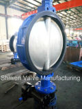 API Di / CS / Ss Gearbox Operate Wafer Butterfly Valve com disco CF8