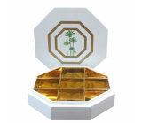 Caixa de madeira branca das tâmaras do produto comestível do revestimento do piano