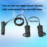 12V 24V Auto Cigar Lighter Adapter met Two Sockets en Waterproof