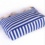 Le sac à provisions rayé de sac de plage de toile de module de plage de sac d'épaule de sac de marine neuve féminine neuve d'été