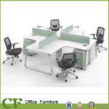 Poste de travail moderne de bureau de bureau de bureau croisé avec partition