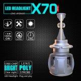X70 60W 15600lm D1 D2 D3 D4 12V 24V自動ランプ車LEDのヘッドライトの球根の自動車ライト