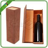La marque de luxe conçoivent le cadre de papier de empaquetage de bouteille de vin de Champagne de verrerie de cadeau de carton avec le support