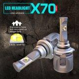 新しいX70 60W 15600lm 9006 12V 24V自動車LEDのヘッドライトの球根の自動車ライト