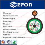 Porteur central supplémentaire autosuffisant de FRP pour les câbles fibre optiques (GYFTC8S)