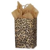 Sacchetto di acquisto su ordinazione stampato leopardo del regalo della carta kraft Dei clienti per l'imballaggio dell'indumento