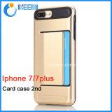 Due in uno con la cassa del telefono delle cellule della fessura per carta per il iPhone 7