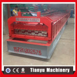 Rodillo de la cubierta del material de construcción del almacén que forma a surtidor de la máquina