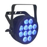 IGUALDAD ULTRAVIOLETA aprobada de la luz LED de la etapa del compacto RGBWA del Ce con la cubierta de aluminio delgada de Powercon (12HX)