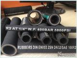Boyau R16 normal en caoutchouc du boyau SAE de pétrole hydraulique de tresse de fil d'acier
