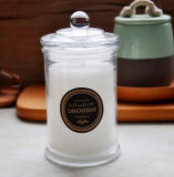 La candela popolare stona il vaso di vetro della candela dei supporti di candela