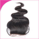 Virgin Straight Brazilian Hair Bleached Knots 3 Fermeture en dentelle