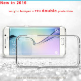 Samsung Galaxy S7/S7 Edge Mobile Coverのための極めて薄い0.3mm Transparent TPU+Acrylic Bumper Cell Phone Case