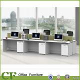 Eenvoudige stijl 6 Werkstation van het Personeel van de Verdeling van het Bureau van Zetels het Rechte