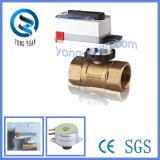 Válvula de controle de válvulas de esfera de latão elétrico HVAC de 3 vias (BS-878.25-3)
