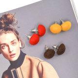 Brincos encantadores do parafuso prisioneiro da forma do cogumelo da cor dos doces do projeto elegante para mulheres