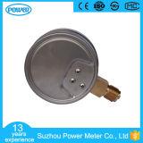 indicateur de pression de capsule de l'acier inoxydable 16kpa de 100mm avec le trou zéro