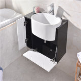 Salle de bains mural simple vanité en plastique avec le côté du Cabinet Le Cabinet