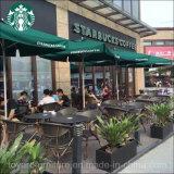 Redonda ao ar livre restaurante dos restaurantes do café da mobília 27inch do jardim com parte superior do aço de carbono