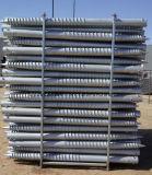 De Omheining van het staal en de Latwerk Gebruikte Schroef van de Grond