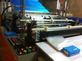 Cuatro de dos líneas de fondo capa de sellado bolsa de plástico que hace la máquina