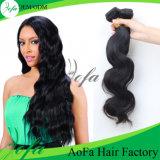 Alta calidad que teje puro 100% del pelo humano de la Virgen de la peluca