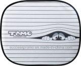 Guarda-sol promocional de janela lateral de carro com desenho de desenho animado