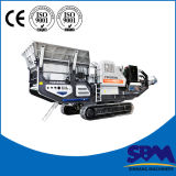 Máquina móvel do triturador da trilha, triturador do móbil da capacidade elevada