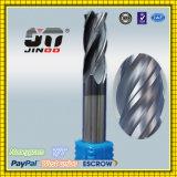Stevig Carbide 4 Fluiten regelt de Molen van het Eind voor Roestvrij staal