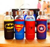 bottiglia di vetro di sport 300ml della bottiglia di acqua di sport di vetro delle azione