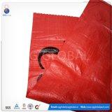 Venda por grosso de 50kg impresso saco de tecido PP vermelho