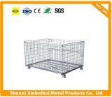 Складывая Stackable хранение металла ячеистой сети штабелируя клетку хранения контейнера
