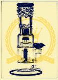 Conduite d'eau de fumage en verre de Perc de tube de Klein de Borosilicate de Birdcage de percolateur de qualité de tabac duel triple de recycleur