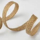 cinta del cordón del yute de la alta calidad del 1cm para la decoración de DIY