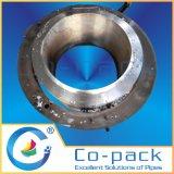 Corte da tubulação hidráulica e máquina de chanfradura