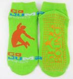 Trampoline-Socken-Baumwollgleitschutznicht Gleiter-Sprung-Socke