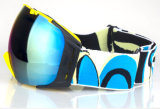 Sangle ajustable confortable OEM Lentille PC Casque de ski des lunettes de protection