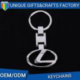 Forma del coche de metal regalos de promoción de la manera llavero de encargo del anillo dominante
