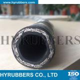 GummiEdelstahl-Draht-umsponnener flexibler hydraulischer R2 Gummischlauch SAE 100 R2
